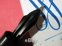 Vtg Montblanc 202 Safety OB 14c Gold Nib Flex 1930s Fountain Pen Pocket Clip