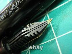 Vtg Montblanc 244 G Fountain Pen 14K Gold Nib Semi Flex vintage 1950s GT