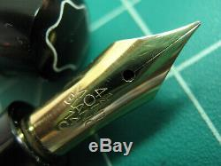 Vtg Montblanc 334 1/2 Fountain Pen 14K Gold Nib Fine Pt Flex vintage 1950s GT